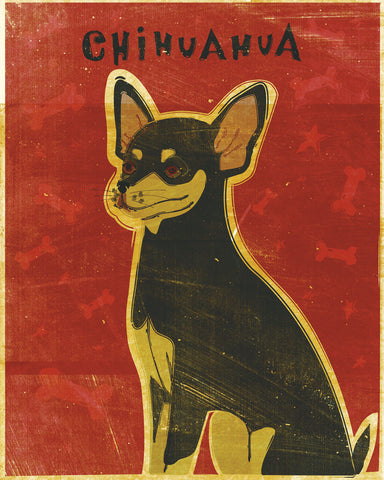 Chihuahua (black and tan) -  John W. Golden - McGaw Graphics