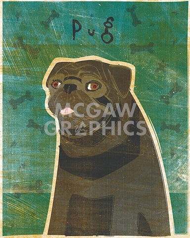 Pug (black) -  John W. Golden - McGaw Graphics