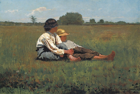 Boys in a Pasture, 1874 -  Winslow Homer - McGaw Graphics