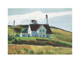 Hill and Houses, Cape Elizabeth, Maine, 1927 -  Edward Hopper - McGaw Graphics