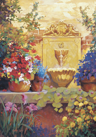 Patio Fountain -  Carolyne Hawley - McGaw Graphics