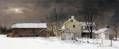 Winter Moon -  Ray Hendershot - McGaw Graphics