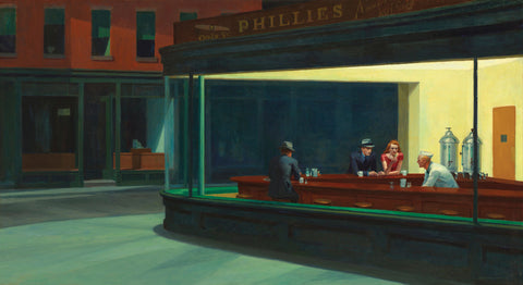 Nighthawks -  Edward Hopper - McGaw Graphics