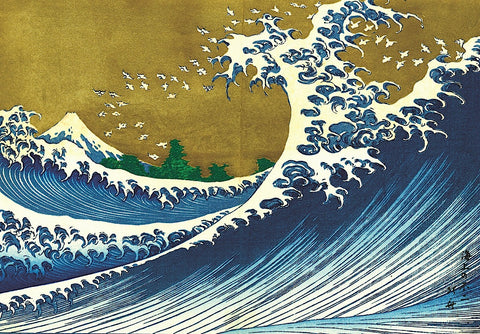 Katsushika Hokusai - Big Wave (from 100 views of Mt. Fuji)