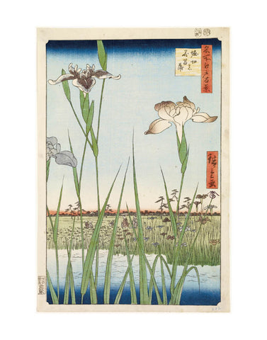 Irises at Horikiri, 1857 -  Ando Hiroshige - McGaw Graphics