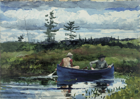 The Blue Boat, 1892 -  Winslow Homer - McGaw Graphics