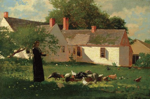 Farmyard Scene, c. 1874 -  Winslow Homer - McGaw Graphics