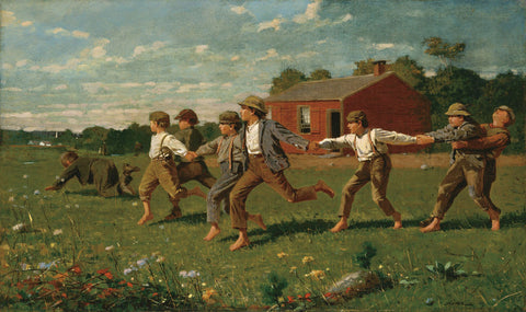 Snap the Whip, 1872 -  Winslow Homer - McGaw Graphics