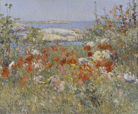 Celia Thaxter's Garden, Isles of Shoals, Maine, 1890 -  Childe Hassam - McGaw Graphics
