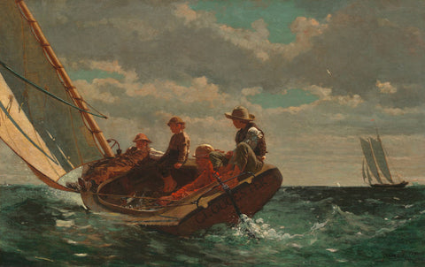 Breezing Up (A Fair Wind), 1873-1876 -  Winslow Homer - McGaw Graphics