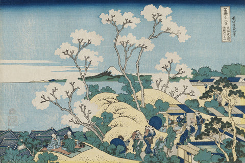 Fuji from Goten-yama, at Shinagawa on the Tôkaidô -  Katsushika Hokusai - McGaw Graphics