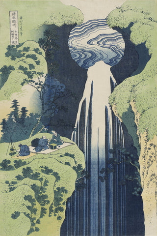Katsushika Hokusai - The Amida Falls in the Far Reaches of the Kisokaidô Road