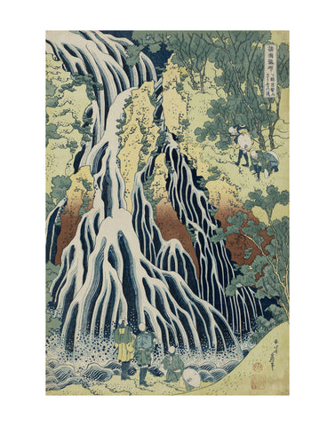 The Falling Mist Waterfall at Mount Kurokami in Shimotsuke Province -  Katsushika Hokusai - McGaw Graphics