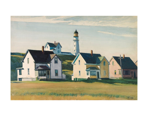 Lighthouse Village (also known as Cape Elizabeth), 1929 -  Edward Hopper - McGaw Graphics