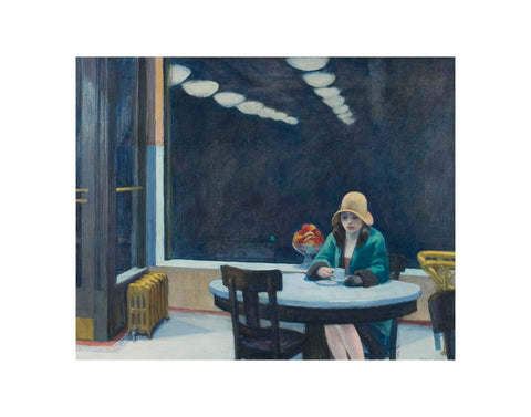 Automat, 1927 -  Edward Hopper - McGaw Graphics
