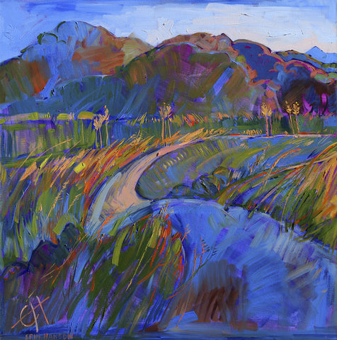 Scarlet Grass in Triptych (left) -  Erin Hanson - McGaw Graphics