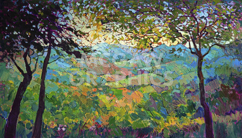 Vineyard View -  Erin Hanson - McGaw Graphics