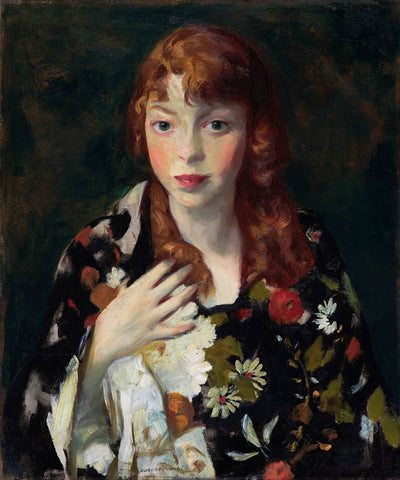 Robert Henri - Edna Smith in a Japanese Wrap, about 1915