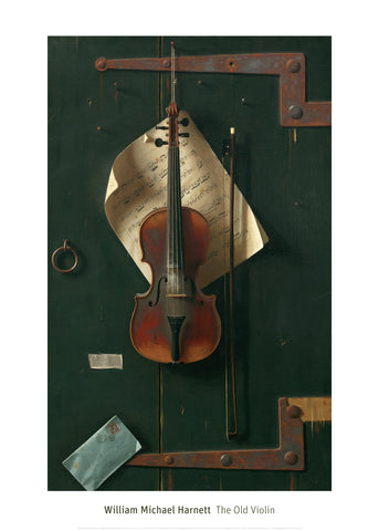 The Old Violin, 1886 -  William Michael Harnett - McGaw Graphics