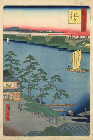 The Terminal at the Niijuku Ferry -  Ando Hiroshige - McGaw Graphics