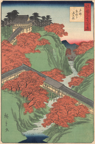 The Tofukuji Temple atop a Mountain -  Utagawa Hiroshige I - McGaw Graphics