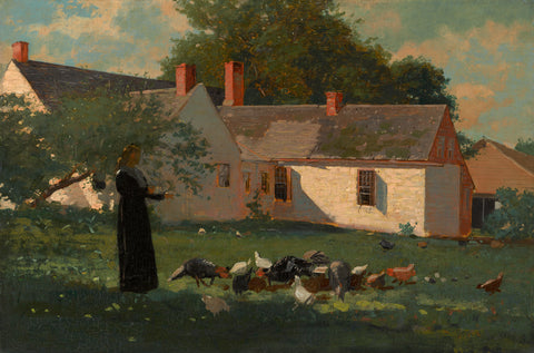 Farmyard Scene, c. 1872-74 -  Winslow Homer - McGaw Graphics