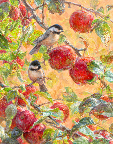 Autumn Morning - Chickadees - McGaw Graphics