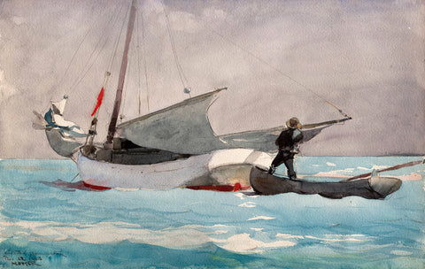 Stowing Sail, 1903 - McGaw Graphics
