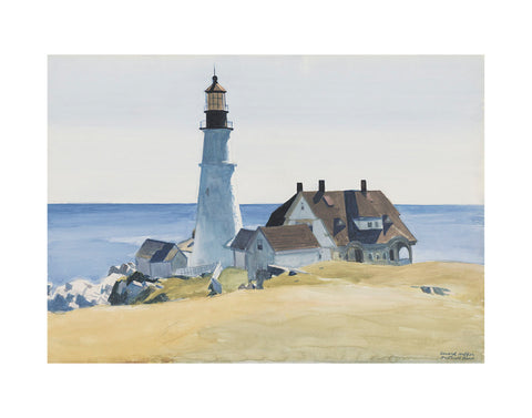 Lighthouse and Buildings, Portland Head, 1927 -  Edward Hopper - McGaw Graphics