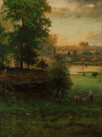 Scene at Durham, an Idyll, 1882-85 -  George Inness - McGaw Graphics