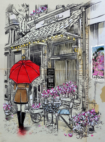 Cafe Mistral -  Loui Jover - McGaw Graphics