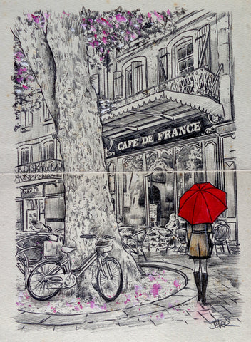 The Cafe at the Tree -  Loui Jover - McGaw Graphics