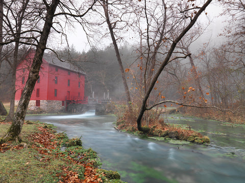Red Grist Mill -  Derek Jecxz - McGaw Graphics