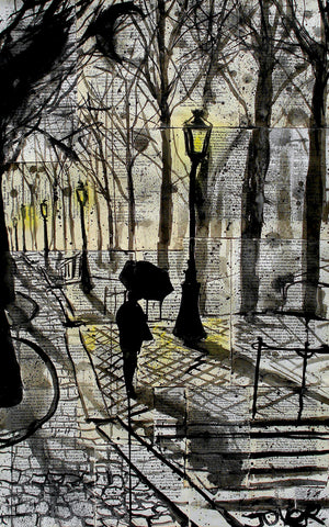 Loui Jover - Walking in Montmartre