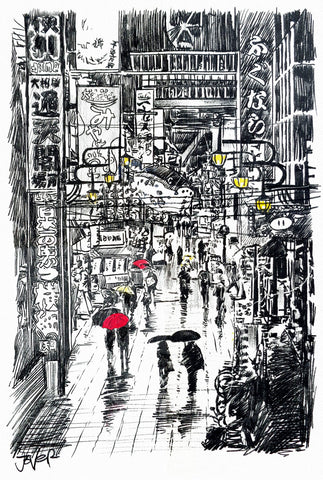 Somewhere in Japan -  Loui Jover - McGaw Graphics
