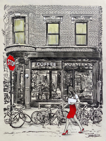 The Coffee Roasters Place -  Loui Jover - McGaw Graphics
