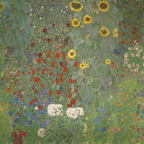 Gustav Klimt - Farm Garden with Sunflowers, around 1905/1906