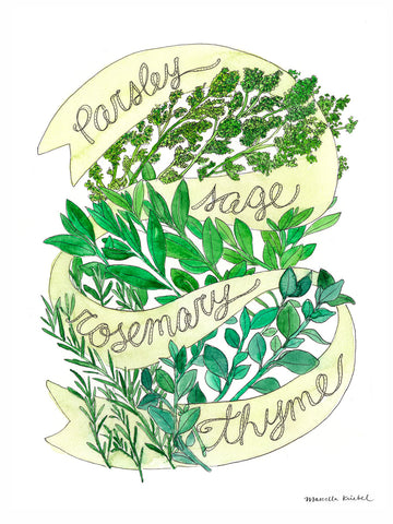 Parsley Sage Rosemary Thyme -  Marcella Kriebel - McGaw Graphics