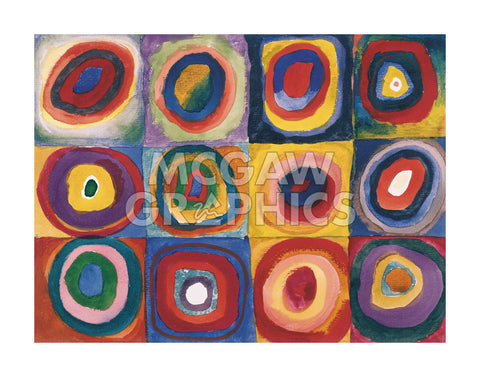 Farbstudie Quadrate -  Wassily Kandinsky - McGaw Graphics