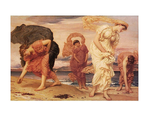 Greek Girls Picking up Pebbles -  Frederic Leighton - McGaw Graphics