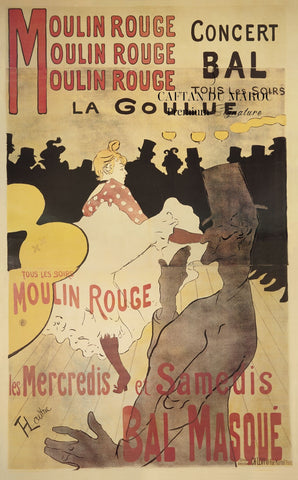 Moulin Rouge/La Goulue -  Henri de Toulouse Lautrec - McGaw Graphics