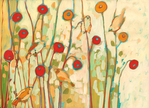 Five Little Birds Playing Amongst the Poppies -  Jennifer Lommers - McGaw Graphics