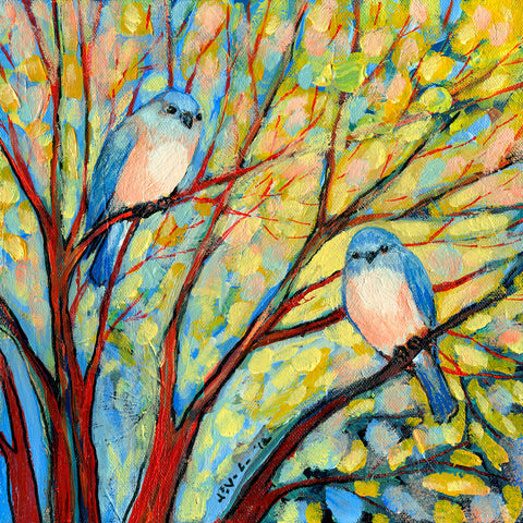 Two Bluebirds -  Jennifer Lommers - McGaw Graphics