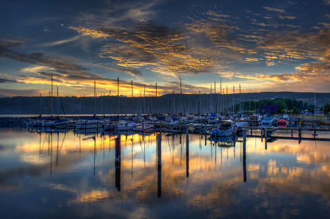 Seneca Lake Sunrise -  Robert Lott - McGaw Graphics