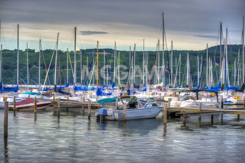 Harbor at Watkins Glen -  Robert Lott - McGaw Graphics
