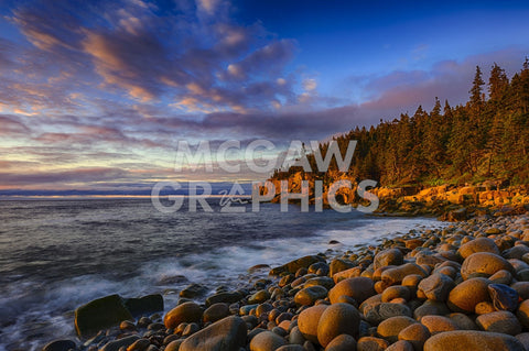 Sunrise on Otter Cliffs #4 -  Robert Lott - McGaw Graphics