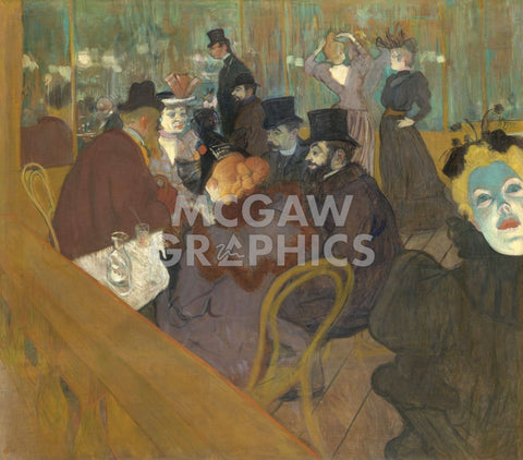 At the Moulin Rouge, 1892-95 -  Henri de Toulouse Lautrec - McGaw Graphics
