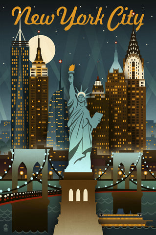 New York City -  Lantern Press - McGaw Graphics