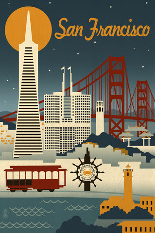San Francisco -  Lantern Press - McGaw Graphics