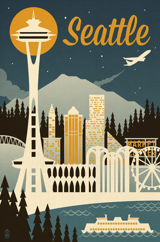 Seattle -  Lantern Press - McGaw Graphics